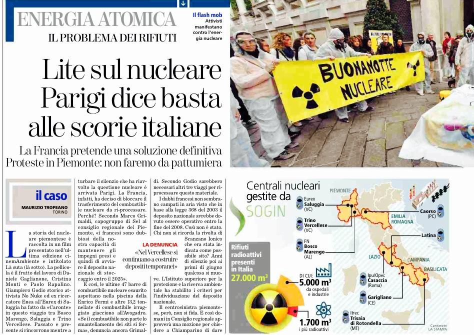 la stampa no nuke