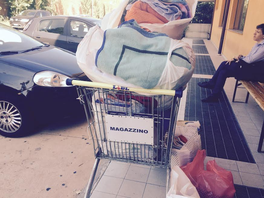 cie consegna asciugamani