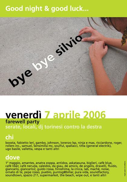 bye bye Silvio.
